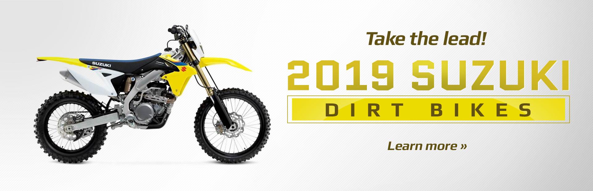 cea59684e22 2019 Suzuki Dirt Bikes. Learn More.